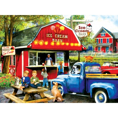 Puzzle  Sunsout-28858 Tom Wood - The Ice Cream Barn