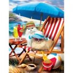 Puzzle  Sunsout-28865 XXL Teile - Beach Cats