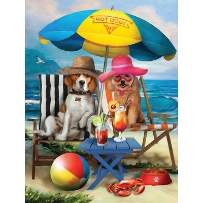 Puzzle  Sunsout-28884 XXL Teile - Beach Dogs