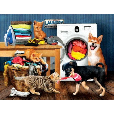 Puzzle Sunsout-28930 XXL Teile - Laundry Room Laughs
