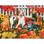 Puzzle  Sunsout-30407 XXL Teile - The Leaf Collectors