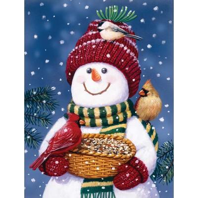 Puzzle  Sunsout-30466 XXL Teile - Snowman Bird Feeder