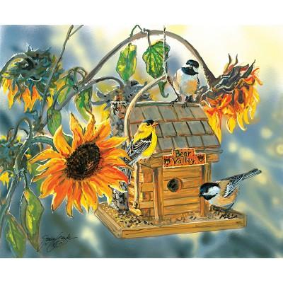 Puzzle  Sunsout-30619 Janene Grende - Bear Valley Birds