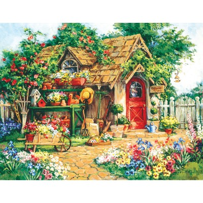 Puzzle  Sunsout-31354 XXL Teile - Barbara Mock - Gardener's  Haven