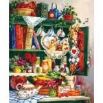 Puzzle  Sunsout-31391 Barbara Mock - Grandma's Cupboard