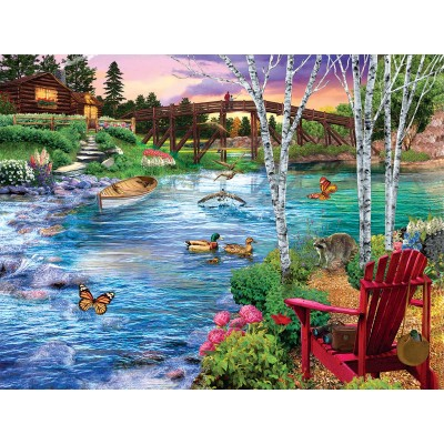 Puzzle  Sunsout-31418 XXL Teile - Bridge Fishing