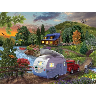 Puzzle Sunsout-31430 XXL Teile - Campers Coming Home