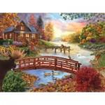 Puzzle  Sunsout-31554 Autumn Evening