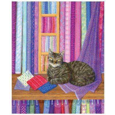 Puzzle  Sunsout-31628 Linda Elliott - Quilt Shop Playmate