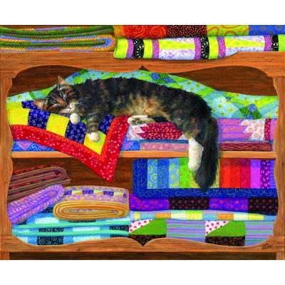 Puzzle  Sunsout-31649 Linda Elliott - Quilt Cupboard