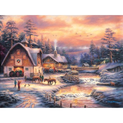 Puzzle  Sunsout-33714 XXL Teile - Country Holidays