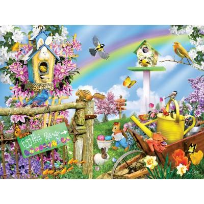 Puzzle  Sunsout-34840 XXL Teile - Spring Egg Hunt