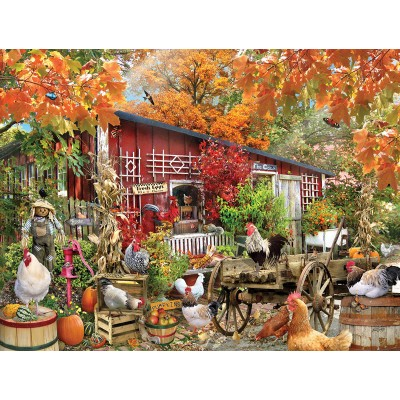 Puzzle  Sunsout-34871 XXL Teile - Barnyard Chickens