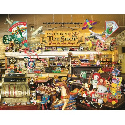 Puzzle  Sunsout-34916 XXL Teile - Lori Schory - An Old Fashioned Toy Shop