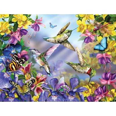 Puzzle Sunsout-34919 XXL Teile - Butterflies & Hummingbirds