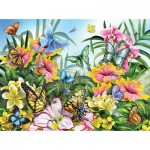 Puzzle  Sunsout-34928 Lori Schory - Garden Colors