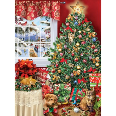 Puzzle  Sunsout-35020 Lori Schory - Cat Tree