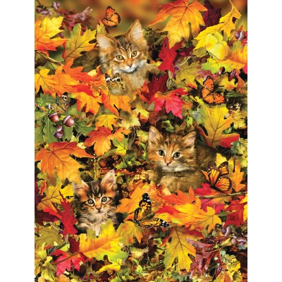 Puzzle  Sunsout-35059 XXL Teile - Lori Schory - Kitties at Play