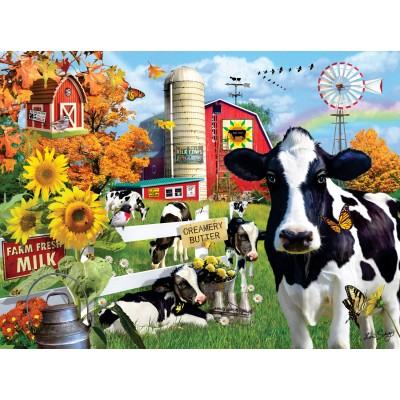Puzzle  Sunsout-35078 XXL Teile - Lori Schory - Dairy Farm