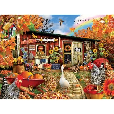 Puzzle  Sunsout-35086 Lori Schory - Chicken Crossing