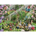 Puzzle  Sunsout-35088 Lori Schory - Gnomes Playground