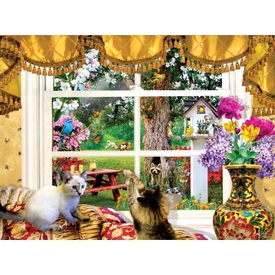 Puzzle  Sunsout-35094 Lori Schory - Through a Window