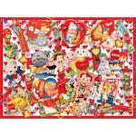 Puzzle  Sunsout-35147 XXL Teile - Valentine Card Collage
