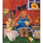 Puzzle  Sunsout-35808 XXL Teile - Barn Babies