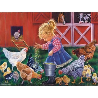 Puzzle  Sunsout-35846 XXL Teile - Farm Girl