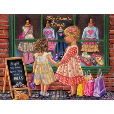 Puzzle  Sunsout-35855 XXL Teile - My Sister's Closet