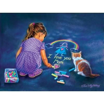 Puzzle  Sunsout-35882 XXL Teile - A Little Artist