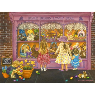 Puzzle Sunsout-35926 XXL Teile - Tricia Reilly-Matthews -  Some Bunny Loves You