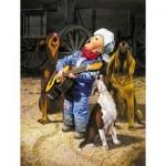 Puzzle  Sunsout-36059 XXL Teile - Singing Cowboy