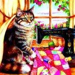 Puzzle  Sunsout-36469 Debbie Cook - The Seamstress