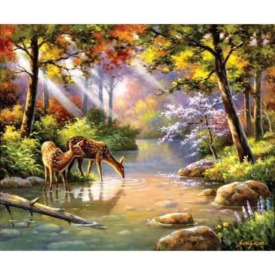 Puzzle  Sunsout-36597 Sung Kim - Doe Re Me Creek