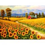 Puzzle  Sunsout-36624 XXL Teile - Red River Sunflower Farm