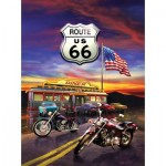 Puzzle  Sunsout-37122 Greg Giordano - Route 66 Diner