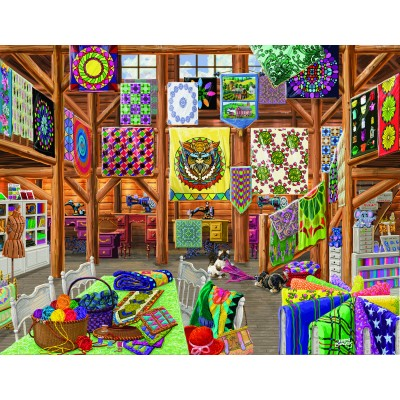 Puzzle  Sunsout-38811 Joseph Burgess - Quilted with Love