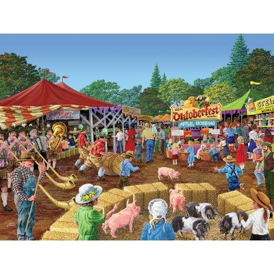 Puzzle  Sunsout-38825 Joseph Burgess - Oktoberfest