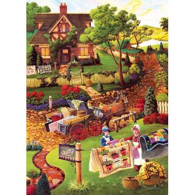 Puzzle  Sunsout-38883 XXL Teile - Joseph Burgess - Mary's Quilt Country