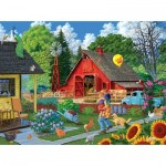 Puzzle  Sunsout-38919 Joseph Burgess - Home from the Fair