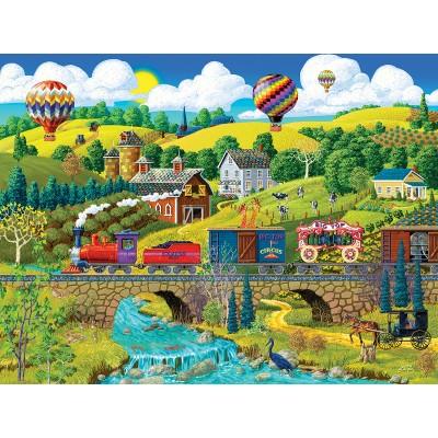 Puzzle  Sunsout-38930 XXL Teile - Big Top Circus Train