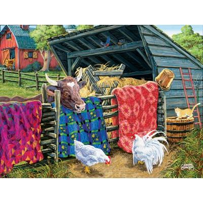 Puzzle  Sunsout-38946 XXL Teile - Joseph Burgess - Quilt Cow