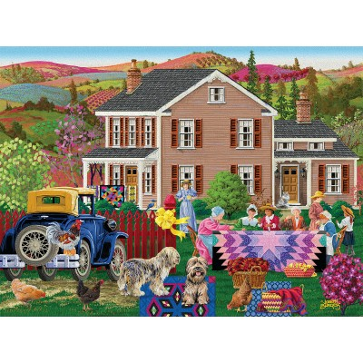 Puzzle  Sunsout-38960 XXL Teile - Quilting Bees