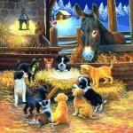 Puzzle  Sunsout-39535 XXL Teile - Barnyard Nativity