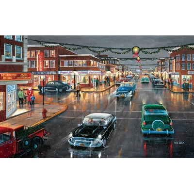 Puzzle  Sunsout-39616 Ken Zylla - Main Street 'Tis the Season