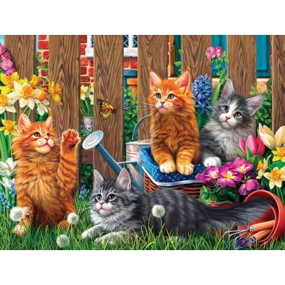 Puzzle  Sunsout-42914 XXL Teile - Kittens in the Garden