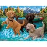 Puzzle  Sunsout-42918 Puppies Make a Splash