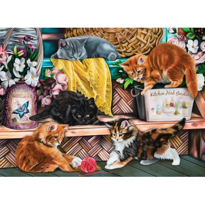Puzzle  Sunsout-42920 Image World - Playful Kittens