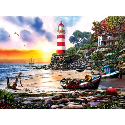 Puzzle  Sunsout-42925 Lighthouse Harbor